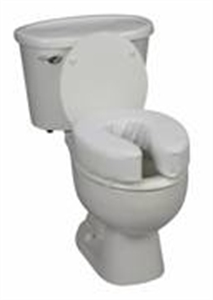 "Picture of Toilet Seat Cushion 4"" Vinyl (Ivory) aka Travel Toilet Riser, Padded Toilet Seat Cushion"