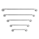 "Picture of Nova Grab Bar 16"" Wall Mount Chrome With Knurled Handle aka Chrome Grab Bar, Bathroom Safety"