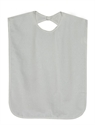 Picture of Patient Protector with Waterproof Backing aka Bib (White) aka Clothing Protector, Mealtime Protector, Adult Bib