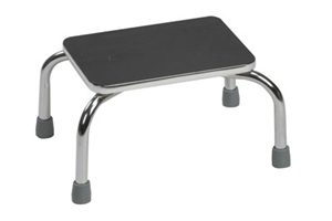 Picture of Foot Stool Heavy Duty Chrome-plated Steel Frame aka Heavy Duty Step Stool, stepstool, Aids to Daily Living, Price Reduced, Clearance Foot Stool