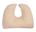 "Picture of Crescent Pillow Mate 14"" x 12"" x 3"" with Removable Cover (Fleece) aka Travel Pillow, Airplane Plillow, Cervical Pillow, U shaped pillow, Hypoallergenic pillow, Ortho Pillow"