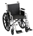 "Picture of NOVA Steel Wheelchair 18"" with Detachable Desk Arms and Swing Away Footrests (Black)"
