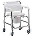 "Picture of Shower Chair Commode with 4"" Swivel Wheels"