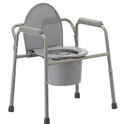 Picture of Nova Bedside Commode (3 in 1 style) aka bed side commode, toilet seat riser, toilet safety rails, 3 in 1 commode