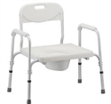 Picture of Extra Wide Heavy Duty Commode with Removable Back aka Bariatric Commode, Bedside Commode, Bathroom Commode holds 450 pounds