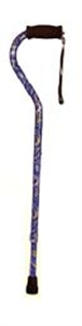 Picture of Standard Aluminum Cane with Wrist Strap (Paisley Purple) - Clearance