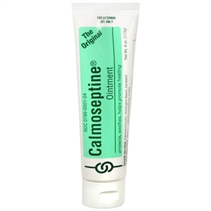 Picture of Calmoseptine Ointment with Zinc Oxide (4 oz. tube) aka incontinence cream, diaper cream, zincoxide cream, Protective Ointment, Skin Irritation