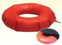 "Picture of Cushion Ring (Inflatable 16"")(Rubber)(Navy Cover) aka Seat Cushion, Ring Cushion, Donut Cushion, Wheelchair Cushion, Clearance"