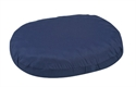 "Picture of Ring Cushion 18"" Convoluted Foam with Navy Cover aka Eggcrate Cushion, Donut Cushion, Wheelchair Cushion, 3"" Seat Pad"