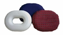 "Picture of Molded Foam Ring Cushion 16"" (Fancy Red Washable Cover) aka Donut Cushion, 3"" Seat Cushion, Chair Cushion, Chair Pad, Clearance"