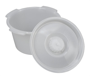 Picture of Commode Replacement Pail with Lid (7 qt.) aka 7 qt commode pail, Commode Accessories