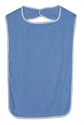 Picture of Terry Cloth Patient Protectors (Blue) aka Adult Bibs, 532-6013-2400, Mealtime Protectors