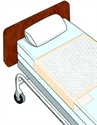 "Picture of Ideal Brand Disposable Underpads with Tuckable Sides (28"" x 70"")(Case of 75) aka Chux, Tuckables, Bed Pads"