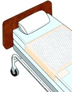 "Picture of Sta-Put™ Disposable Underpads aka Chux with tuck-in wings 36"" x 70"" (Pack of 12) (Peach)(tuckables)"