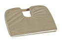"Picture of Sloping Coccyx Cushion (15"" x 14"")(Camel) aka Tailbone Cushion, Travel Seat Cushion"