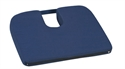 "Picture of Sloping Coccyx Cushion (15"" x 14"")(Navy Cover) aka Travel Cushion, Tailbone Cushion"