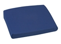 "Picture of Sloping Back Chair Cushion (16""x 18"")(4""-2"" Slope) with Navy Poly/Cotton Cover, aka Slanted Seat Cushion, Wheelchair pad, Wheelchair Cushion, CLEARANCE"