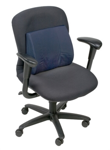 "Picture of Lumbar Back Cushion Standard Contoured Foam with Strap (Navy Cover)(14"" x 13"") aka Chair Cushion, Car Back Support, Car Lumbar Support, DMI 555-7300-2400"