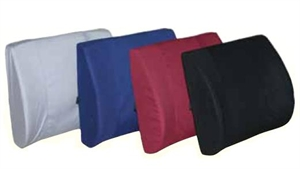 "Picture of Lumbar Back Cushion Molded Foam Extra Wide 13""x18"" with strap (Black)  aka Lumbar Cushion, Car Back Cushion, Clearance"