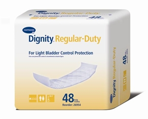 "Picture of Dignity® Regular Duty Pads 4"" x 12"" (Case of 384) aka insert, Dignity Pad, Bladder Control Protection"