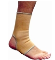 Picture of Elastic Ankle Support (Beige)(Small to XXL) aka Large Ankle Sleeve, XXL Ankle Brace, Ankle Tendonitis Support, Small Ankle Brace