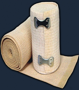 "Picture of Elastic Compression Bandage 3"" (Clip Closure) aka elastic bandage, ace bandage, knee wrap, wrist wrap, runners tape"