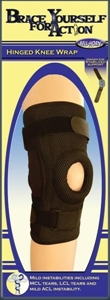Picture of Brace Yourself For Action Hinged Knee Wrap (Small/Medium) aka Bell Horn Knee Brace, Knee Support, Small ACL Brace, Small Hinged Knee Brace, CLEARANCE