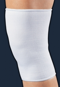 Picture of Elastic Knee Sleeve (White)(Small to X-Large) aka XL Knee Support, XL Knee Brace, Small Knee Wrap