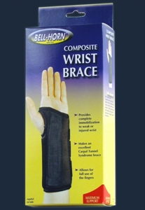 Picture of Composite Wrist Brace (Left)(X-Small) aka Wrist Support, Wrist Brace with Lateral Stays, Maximum Support Wrist Brace