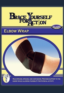 Picture of Brace Yourself For Action Elbow Wrap (Universal) aka Bell Horn Elbow Brace, Elbow Support, Tennis Elbow Brace, Tennis Support, Forearm Brace, Athletic Elbow Brace