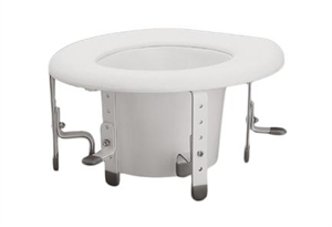 Picture of Universal Raised Toilet Seat aka Toilet Riser for elongated toilets, Toilet Seat Riser