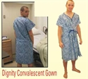 Picture of Dignity Convalescent Gown aka Patient Gown, Hospital Gown, Rose Medical 5053, Clearance