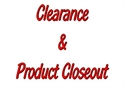 Picture for category  CLEARANCE & CLOSEOUT ITEMS