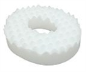 "Picture of Convoluted Foam 18"" Ring Cushion ""Eggcrate"" (with removable White Cover) aka Donut Cushion, 3"" Seat Cushion, Chair Pad, Eggcrate Cushion, Clearance"