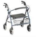 "Picture of Mini Mack Rolling Walker User Height 4'11""-5'5"" 400lb Weight Cap. (Blue) aka Bariatric Walker, Heavy Duty Walker"