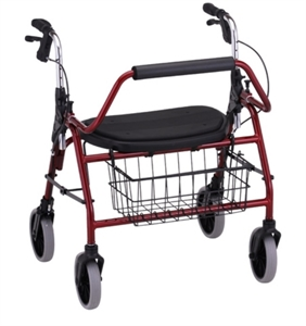 "Picture of Mighty Mack Rolling Walker, User Height 5'5""-6'0"", Weight Cap. 500lbs aka Bariatric Walker, Rollators, Heavy Duty Walker, Heavy Duty Scooter, Bariatric Scooter"