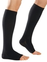 Picture of Microfiber Graduated Compression Stockings 20-30 mmHg Knee-High Open-Toe (Black) aka Legwear, Socks, Dr. Comfort