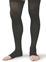 Picture of Microfiber Graduated Compression Stockings 20-30 mmHg (Small)(Thigh High - Open Toe)(Black) aka Leg Wear, Bell Horn Stockings, Bell Horn Socks, Dr. Comfort Socks