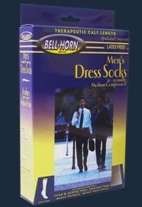 Picture of Men's Dress Socks Graduated Compression 21-25 mmHg (Medium/Navy) aka Compression Socks, PRICE REDUCED