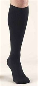 Picture of Bell Horn® Anti-Embolism Stocking 18 mmHg (Closed-Toe Knee-High)(Black)(Medium) aka Medium Compression Socks, Medium Edema Stockings, Closed Toe Stockings