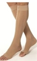 Picture of Bell Horn® Anti Embolism Stocking 18 mmHg (Open Toe - Knee High) (Beige - Small) aka Small Compression Stockings, Bell Horn Open Toe Stockings, Dr. Comfort Stockings, Edema Socks