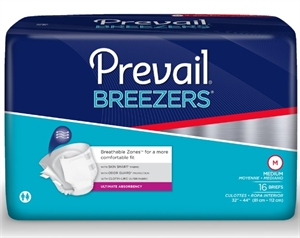 Picture of Prevail® Breezers™ Adult Briefs Medium (Pack of 16) aka medium diapers