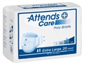 Picture of Attends® Adult Briefs (X-Large)(Case of 60) aka XL Adult Diapers, Attends Care Poly Briefs XLarge, XL Diapers, XL Briefs