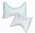 "Picture of Butterfly Rest Pillow (Rosebud Print Cover)(24"" x 18"") aka Cervical Pillow, Neck Pillow, Butterfly Pillow, Knee Pillow"