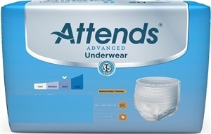 Picture of Attends® Super Plus Protective Underwear (X-Large)(Case of 56) aka Pull Up, Attends Underwear Complete, Attends Advanced Underwear XLarge