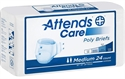 Picture of Attends® Adult Briefs (Medium)(Pack of 24) aka Medium Adult Diapers, Medium Attends Briefs Heavy Absorbency