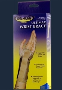Picture of Ultimax Wrist Brace (Left/Medium) aka Carpal Tunnel Brace, Low Cost Wrist Brace, Medium Wrist Brace, Wrist Splint, Clearance