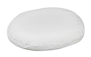 "Picture of Molded Foam Ring Cushion (16"") with White Cover aka 3"" Seat Cushion, Donut Cushion, Wheelchair Cushion, DMI 8016"