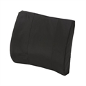 "Picture of Lumbar Back Cushion Standard Contoured Foam with Strap (Black Cover)(14"" x 13"") aka Lumbar Pillow, Chair Cushion, Car Back Support, Lumbar Support, Duro Med 555-7300-0200"