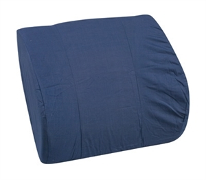 "Picture of Memory Foam Lumbar Cushion with Navy Cover (14"" x 13"") aka Back Cushion, DMI 555-7921-2400, Lumbar Support, Chair Cushion, Back Pillow, Car Lumbar Support Cushion"